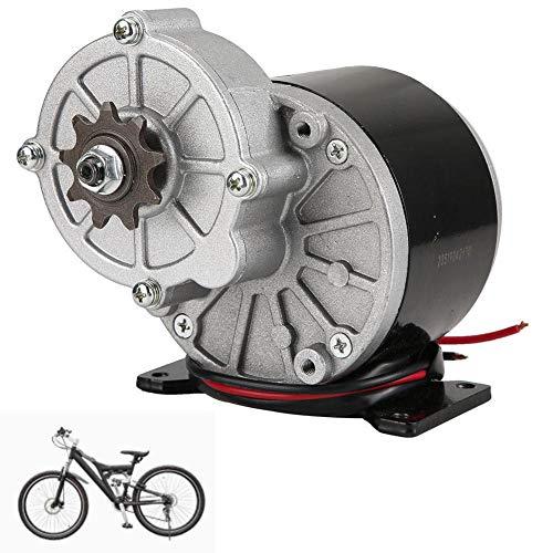 Hongzer Untersetzungsmotor, 24V 350W MY1016Z3 Untersetzungselektromotor Bürste Gleichstrommotoren Untersetzungsgetriebe mit 9-Zahn-Kettenrad für E-Bike-Scooter, 3200 U/min