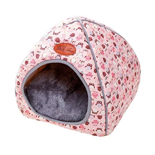 Page Adelasd Haustier Hund Bett & Sofa Erwärmung Hund Haus Weichen Hund Nest Winter Zwinger Für Welpen Katze pink XL
