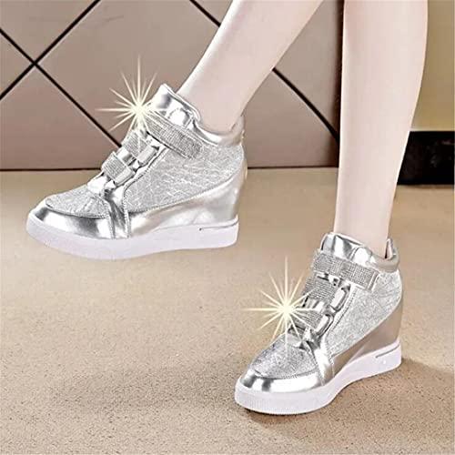 Oceansee Zapatillas clásicas Zapatos para Mujer Deportes Transpirables Zapatos Casuales Mujeres cuñas sólidas Zapatos al Aire Libre Zapatillas de Deporte 2 37