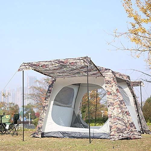 5-8 Menschen Tarnen Familie Zelt Mit Pergola, Draussen Automatisch Camping Regenfest Zelt, Sonnenschutz UV Cabana Strand Zusammenklappbar Zelt