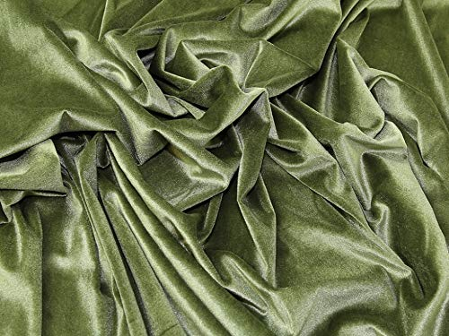 ca elastischer Baumwollsamt lindgrün Nicki 150cm