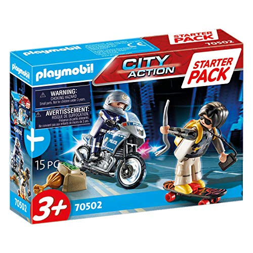 PLAYMOBIL City Action 70502 - Starter Pack Poliziotto e ladro, Dai 3 anni