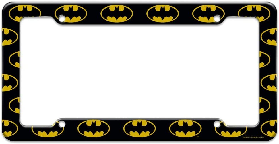 Graphics and More Batman Classic Bat Shield Logo License Plate Clear Frame