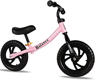 AM ANNA 12 Inch Sport Balance Bike No Pedal Children Walking Bike Kid's Bike Suitable For 2-6 Years Old(Pink)