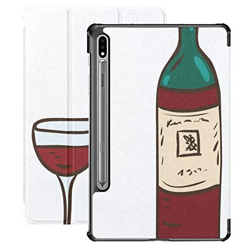 Red Wine Champion Drink Cheers Samsung Galaxy S7 para Samsung Galaxy Tab S7 / s7 Plus Funda Galaxy Tab S7 Plus 2020 Funda Trasera con Soporte Funda Galaxy Tab S7 Plus para Galaxy Tab S7 11 Pulgadas S