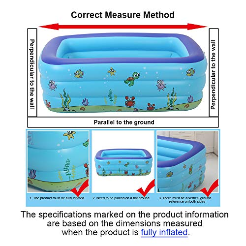 ECOiNVA Inflatable Swimming Pool Hot Tubs Bathtubs Inflated Tubs with Electric Air Pump Inflator Folding Durable Adult Bath Tubs