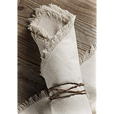 Richland Linen Napkins with Fringe Edge 20  Set of 12