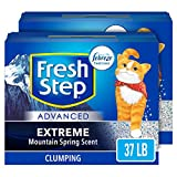 Fresh Step Advanced Extreme Clumping Cat Litter with Odor Control - Mountain Spring Scent, 37 lb (2x18.5lb Pack)