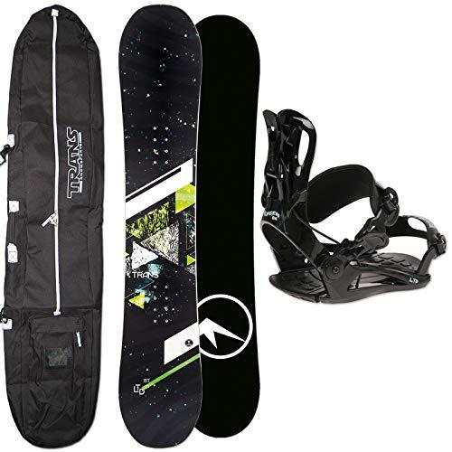 Unbekannt Herren Snowboard Set Trans LTD Green 143 cm 2019 + FTWO Sonic BINDUNG GR. M + Bag