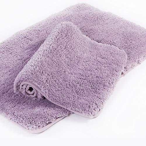 Walensee Shaggy 2 Piece Bath Rug Set, (20 x 32, 2 Pack Set, Lavender) Bathroom Rug Set Bath Mats for Bathroom Machine Wash/Dry Absorbent Bathroom Mats Set Non Slip Plush Rug Sets for Shower