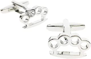 brass knuckle cufflinks