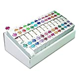 Smead BCCR Bar-Style Alphabetic Color-Coded Labels, Letters A-Z, Assorted Colors, 500 Labels per Roll (67070)