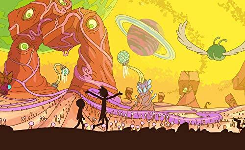 SHENQI- Póster Personajes De Rick Y Morty 1 -Jigsaw Puzzle De Madera De 1000 Piezas para Adultos, Rompecabezas Clásicos, Puzle Creativo para Niños Educativos 75X50Cm
