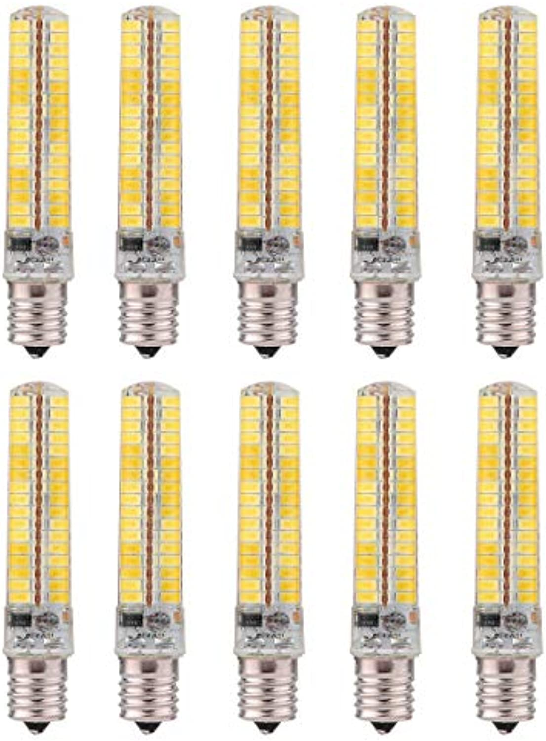 LED Birne E14 Silikon Mais Birne 5730 SMD 136LED Energiesparlampe Dimmbar 10W (90W Halogen quivalent) LED Birne für Hauptbeleuchtung AC 220-240V (10er Pack) LED Energiesparlampe ( Gre   Warmwei )