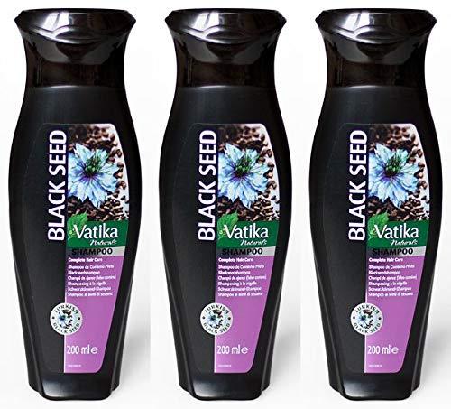 Dabur Vatika Black Seed Schwarze Kümmelsamen Haarschampoo 200ml (3x 200ml)