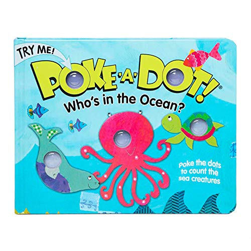 Melissa & Doug Children's Book - Poke-A-Dot: Who's in The Ocean (Board Book with Buttons To Pop)