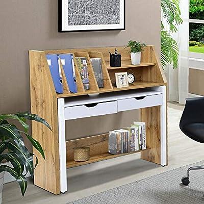 Teeker Versatile Home Office Desk, Rolling Comp...