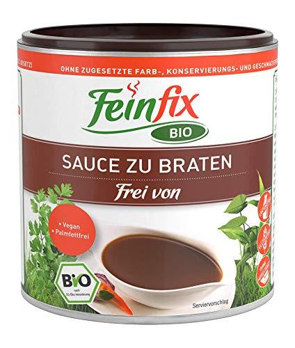 Feinfix BIO Sauce zu Braten 270g ( 2,5l Soße ) | Soßenbinder lactosefrei & vegan Pulver vegetarisch für Bratensoße / Gemüse Soße / Bratensaucen zum Grillen / Nudeln Soße | F7-ZHHR-A7VY