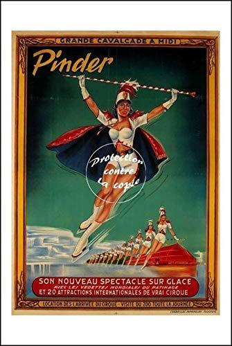 Herbé ™ Poster 40x60cm* d1 Affiche Vintage/Ancienne Circus/Cirque PINDER Grande CAV
