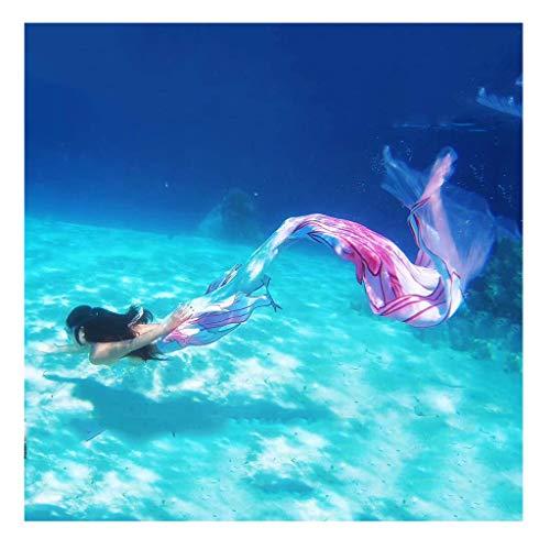 Mermaid Bikini Princesa De Sirena Traje De Baño Cola De Sirena para Niños | Adulto Hombre | Mujer Al Aire LibreNadar|Vacaciones|Fiesta|Fotos,Traje De Bano Sirena(Color:Sirena 5)
