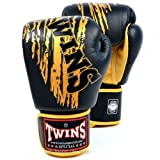 Twins Special Black & Gold Claw Boxing Gloves 16oz