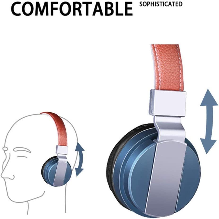 Asffdhley Foldable Headset Headphones,Stereo Folding Headsets Strong Low Bass Headphones with Microphone forMobile Phone TV PC Laptop for Travel/Work (Color : Army green) Wine Red