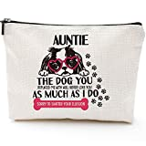 Dog Auntie Gifts for Women Makeup Bag Funny Auntie Gift Dog Lover Gift Pet Owner Rescue Gift Women's Cute Dog Lovers Aunt Gifts from Niece Nephew Gifts for Aunts Birthday