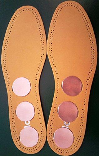 Leder und Kupfer-Einlegesohlen - Größe 38