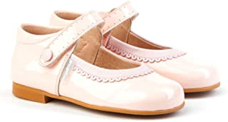 b39dd6d2 AngelitoS Merceditas combinadas de charol Color Rosa para Niña. Marca  Modelo 1508. Calzado infantil