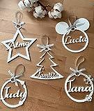 Hari happy Bolas Navidad Personalizadas 3D Blancas