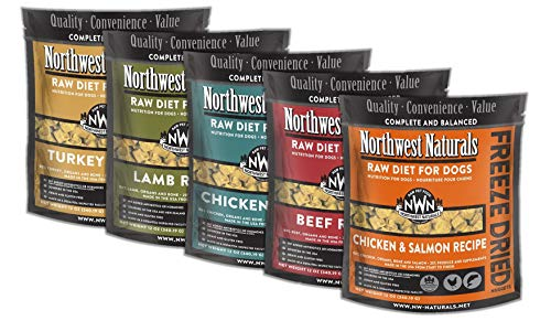 Mixed 5-Pack 12 oz Northwest Naturals Raw Rewards Freeze Dried Nuggets Dinner