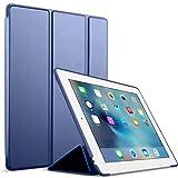 GOOJODOQ iPad 2/3/4 Hülle, PU Leder Etui Hülle Tasche mit Ständer Funktion & Eingebautem Magnet für Einschlaf/Aufwach Shockproof Silikon Weicher TPU Folio Hülle für Apple iPad 2/3/4(blau)