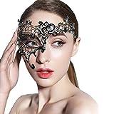 Lady of Luck Veneziana Maschere Metallo Regina Stile Fancy Sexy per Masquerade Costume Party, Natale Carnevale