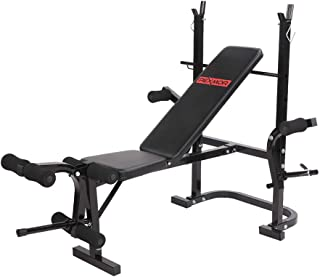 PEXMOR Foldable Weight Bench, Multifunctional Olympic Weight Bench for Adults, Adjustable Workout Bench for Home & Gym & Office