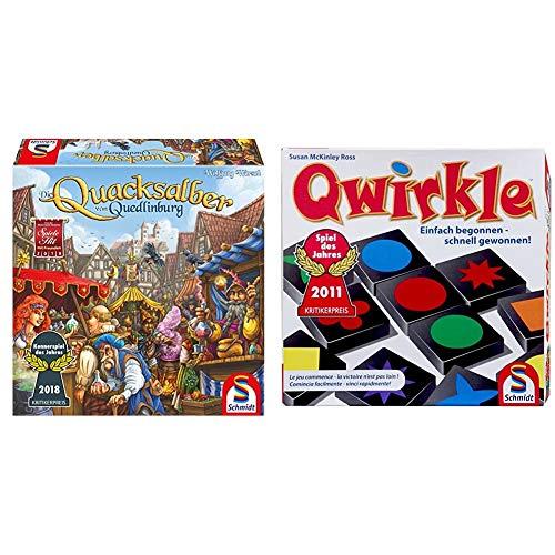 Schmidt Spiele 49341 Die Quacksalber von Quedlinburg, Kennerspiel des Jahres 2018, blau & 49311 Qwirkle, Legespiel