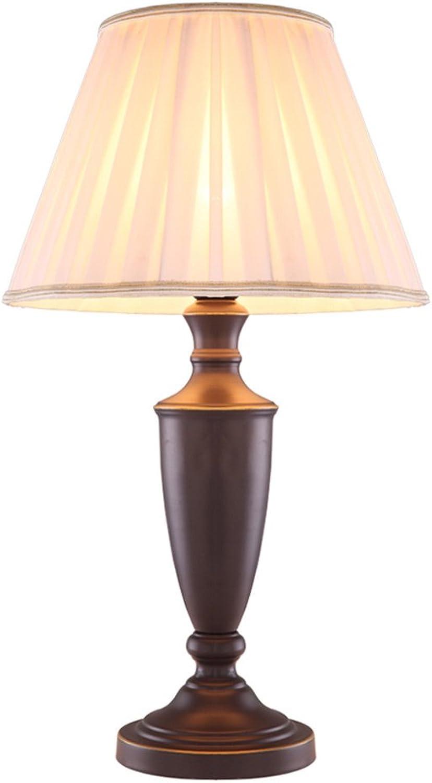 KK Amerikanische einfache Tischlampe Schlafzimmer Nachttisch Lampen Hochzeit Geschenk Persönlichkeit Europäische Stil Eisen Wohnzimmer antike Tischlampe warm (Farbe  Push Button Schalter) B07375HDK6       Ausreichende Versorgung