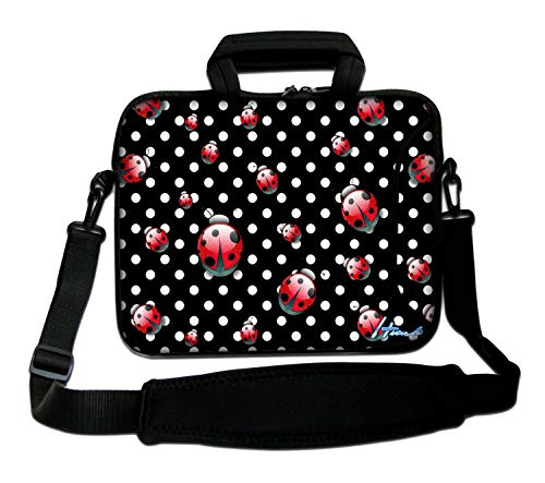 10' Inches Design Laptop Notebook Sleeve Soft Case Bag With Handle and Shoulder Strap for Apple MacBook Air, MacBook, MacBook Pro, MacBook Pro Retina, MacBook Aluminum, Unibody, iBook, PowerBook
