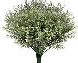 4 plantas artificiales de vegetación falso ramas de arbustos de hojas de spray de imitación de plantas artificiales para decoración de hogar, jardín, boda, arreglo floral