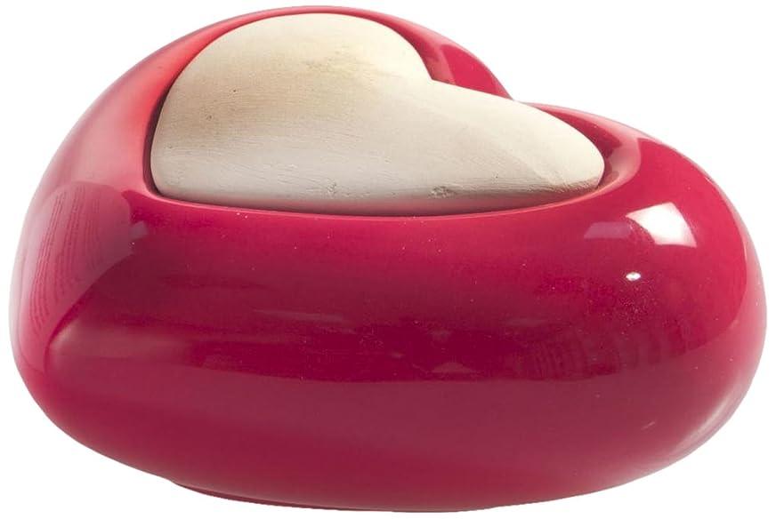 しゃがむケージ飾るMillefiori HEART ルームフレグランス用 ハート型セラミックディフューザー レッド LDIF-CM-003