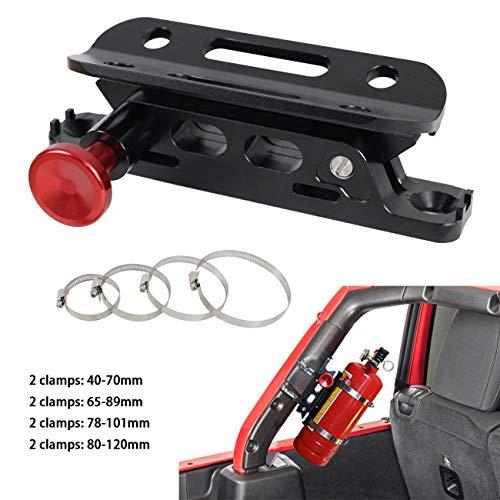 Qii lu Aluminum Alloy/Car Front Bumper Tow Hook License Plate Mount Bracket 8 Holes Adjustable Holder