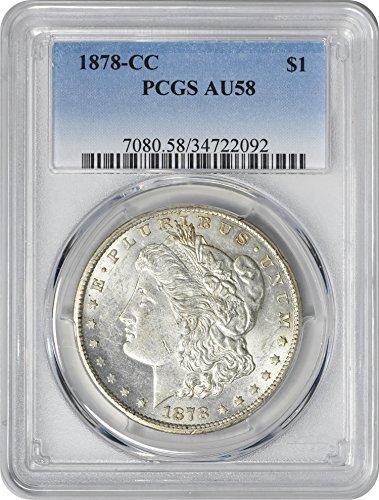 1878 CC Morgan Dollar AU58 PCGS