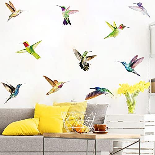 JZLMF Pegatinas de Pared de Aves Pegatinas de Animales de Dibujos Animados Pegatinas Autoadhesivas de PVC para Sala de Estar TBW9394:98x32cm
