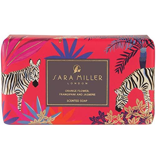 Sara Miller Beauty Tahiti Papierverpackte Glycerin angereicherte Duftseife Orangenblüte, Frangipani & Jasmin, 0,248 kg