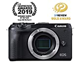 Canon Mirrorless Camera [EOS M6 Mark II] (Body) for Vlogging|CMOS (APS-C) Sensor| Dual Pixel CMOS Auto Focus| Wi-Fi |Bluetooth and 4K Video, Black