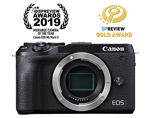 Canon EOS M6 Mark II Mirrorless Camera, Body (Black)