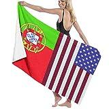 AIMILUX Toalla de Playa,Bandera De Portugal Arte,Toallas de Baño Toallas de Acampada Piscina Natación Playa Toallas de Mano Ducha Toallas de Mano