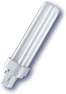 Osram Bombilla Fluorescente Compacta Dulux D G24d, 26W,1800Lm 2400K Color Blanco Cálido, [Clase de eficiencia energética B]