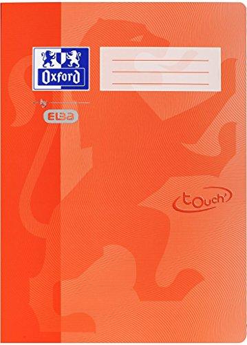Oxford by ELBA 400103403 Schnellhefter aus festem Karton mit Soft Touch-Oberfläche für Format DIN A4 in der Farbe Orange