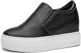 [OceanMap] 厚底スリッポン 脚長 厚底 スリッポン レディース 美脚 スニーカー カジュアル シューズ 黒 白 歩きやすい 軽い 軽量 7cm シンプル 防水 軽い ふかふか 柔らかい 歩きやすい 疲れない インヒール ウェッジソール 25