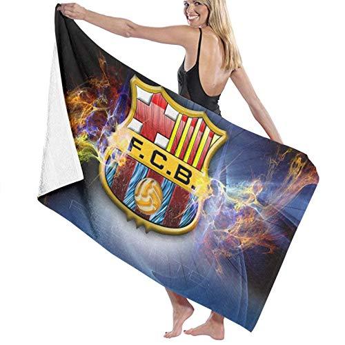 Custom made Toallas de baño absorbentes suaves del logotipo del Fc Barcelona para el baño, secado rápido, toalla de playa de gran tamaño para mujeres y hombres